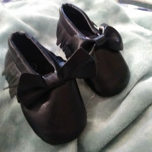Other - Black Baby Moccasins size 1